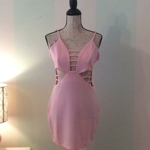 Dresses & Skirts - Pink Mini Stretch Dress Size Small